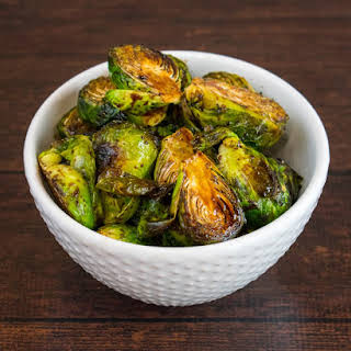 Crispy Roasted Balsamic Brussel Sprouts.