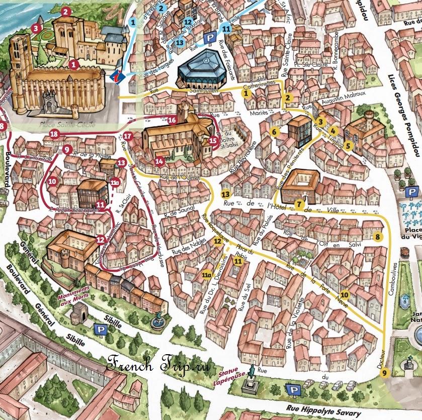 Маршрут по Альби: кварталы Crémat - Vigan
