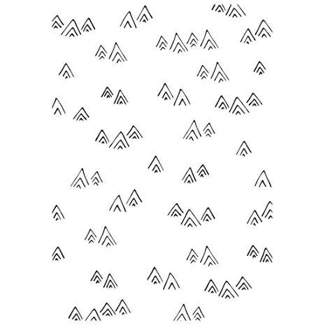 Kaisercraft Embossing Folder 4X6 - Mountains
