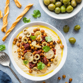 Hummus Bowl with Crispy North African Chickpeas Recipe
