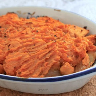 Chickpea and Sweet Potato Cottage Pie for One