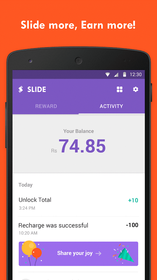 Slide - Earn Free Recharge!- screenshot