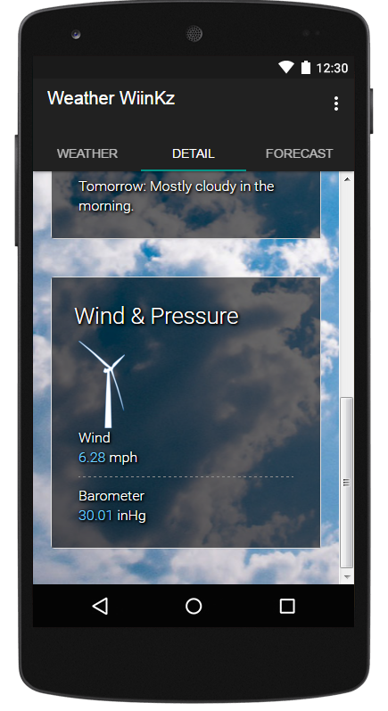 Weather WiinkZ- screenshot