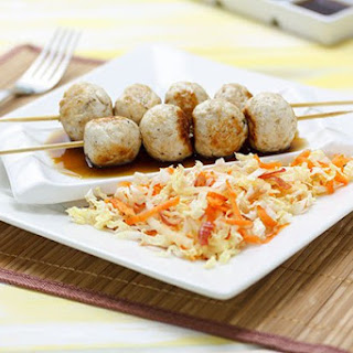 Japanese Skewers with Apple Slaw