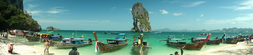 Photo: One of my favourite panoramic photos of a Krabi island www.hotelkrabi.biz