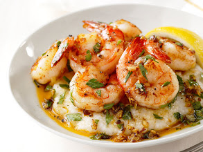 Photo: Get Food Network Magazine's recipe for Lemon-Garlic Shrimp and Grits >> http://ow.ly/gKQHF