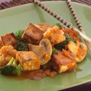 Tofu & Veggies with Maple Barbecue Sauce.