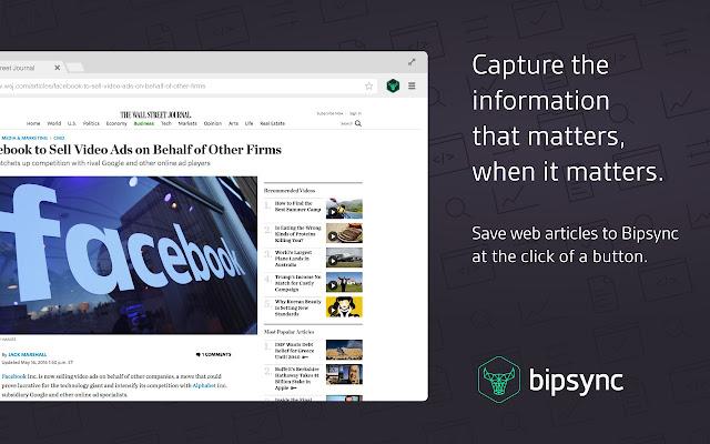 Bipsync Web Clipper