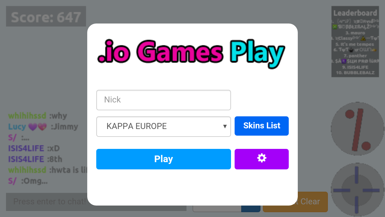 Mains.io Agar Games- screenshot