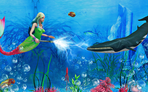 Mermaid Simulator 3D - Sea Animal Attack Games screenshots apkspray 10