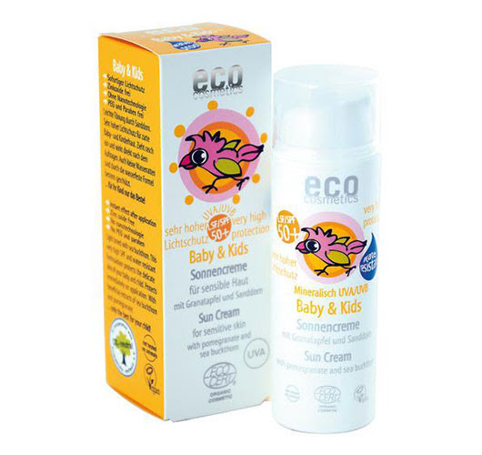 Eco Cosmetics Baby & Kids solkräm 50+, 50ml