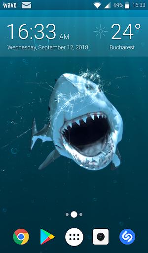Shark Attack Animated Keyboard + Live Wallpaper screenshot 2