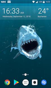 Shark Attack Animated Keyboard Live Wallpaper