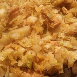 Orange Curry Chicken & Cabbage Rice.