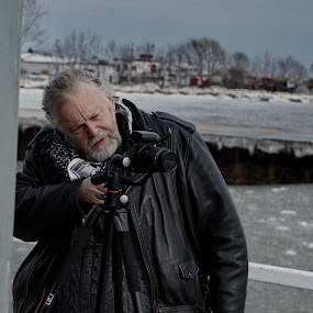 Making The Shot by David Clare - People Street & Candids ( pier, outdoors, winter, photographer, camera, port dover,  )