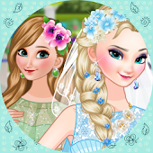 Elsa Bride Dress up