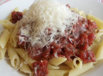 Basil Infused Marinara With Penne Pasta Recipe