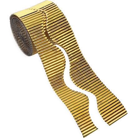 Wellpapprulle guld 5cmx15m