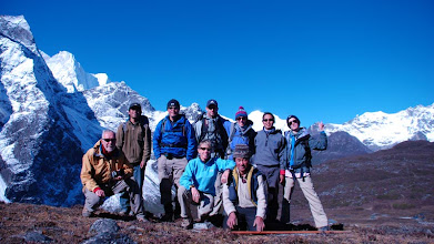 Photo: Kharta Valley, group looking over the Kangshung Face ...