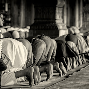 lost in prayers... by Rajarshi Mitra - Babies & Children Children Candids ( muslim, explore, monochrome, lost, masjid, society, mosque, 50mm, feet, little, mnamaz, black&white, kid, religion, girl, tradition, india, culture )