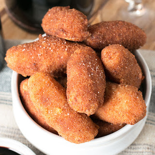 Chorizo, Cheese & Potato Croquettes with Red Wine Dipping Sauce Recipe