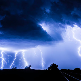 God's Fingers by Christian Skilbeck - Landscapes Weather ( clouds, thunder, lightning, weather, storm, landscape, nightscape )