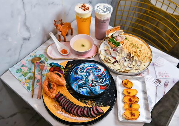 BFF Gossip Brunch:台北中山區美食-公館商圈裡的大理石網美餐廳,餐點夢幻具創意,女孩們的聚餐首選