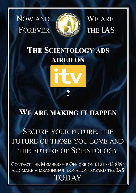 Scientology ads on ITV?