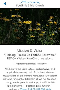 Foothills Bible Church- screenshot thumbnail
