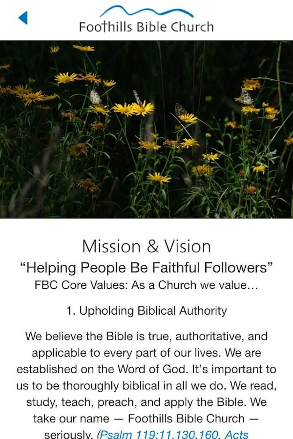 Foothills Bible Church- screenshot