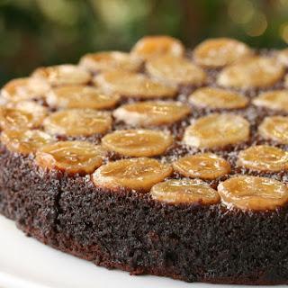 Chocolate-Caramel-Banana Upside-Down Cake