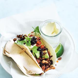 Chicken And Chorizo Tacos.