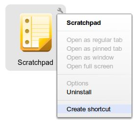 Create Shortcuts for Scratchpad