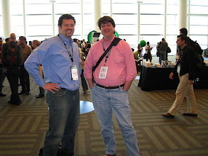 Photo: Nelson Minar, the guy who started Google APIs (right), Dave Nielsen (left)
