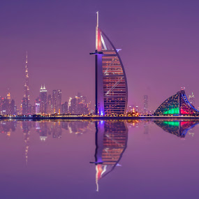 Dubai, from Palm Jumeirah by Abbas Mohammed - Buildings & Architecture Public & Historical ( city, longexposure, palm, hdr, jeumirah, dubai, long,  )