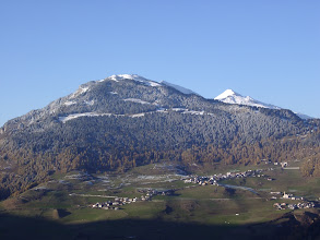 Photo: Graubünden, Obervaz, Scalotas und Stäzerhorn vom Küchenfenster aus