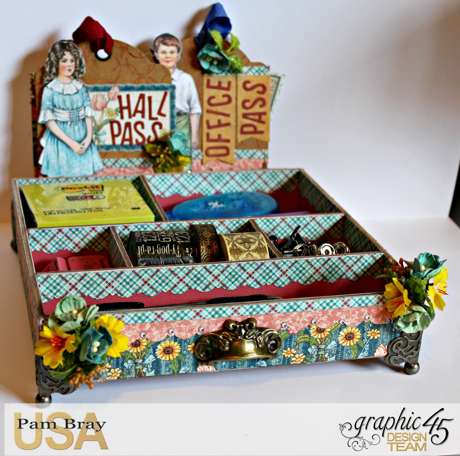 2017 G45 Brand Ambassadors- 2017 Pam Bray  - June 2017 - Penny's Paper Dolls Desk Organizer  with Tutorial Photo 1_7236.jpg