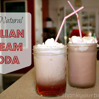 All Natural Italian Cream Soda.