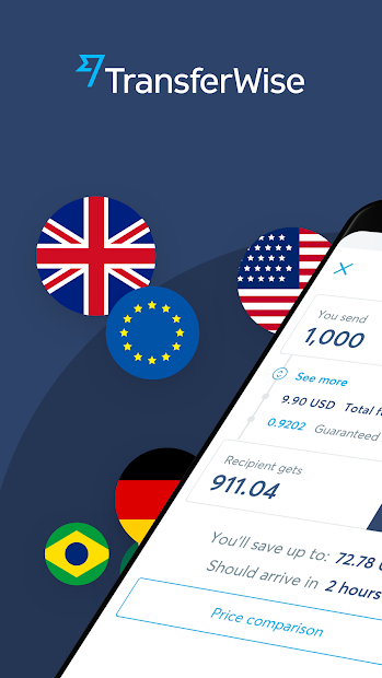 TransferWise Money Transfer Android App Screenshot