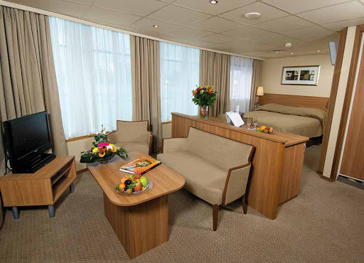 Viking-Truvor-stateroom.jpg - Relax after a busy day of sightseeing in Russia in your luxurious suite on Viking Truvor.