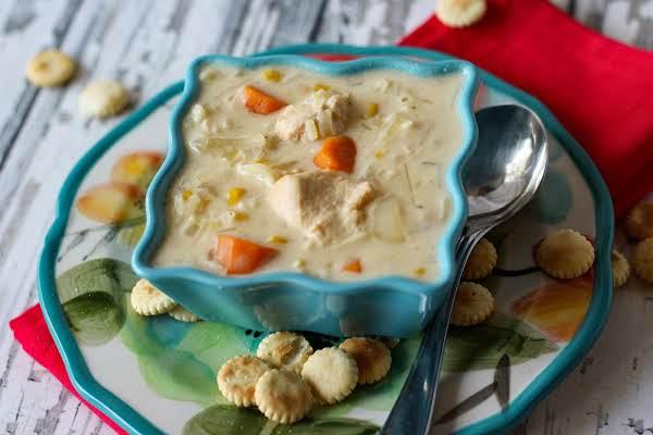 Creamy Chicken Potato Soup In The Crock Pot