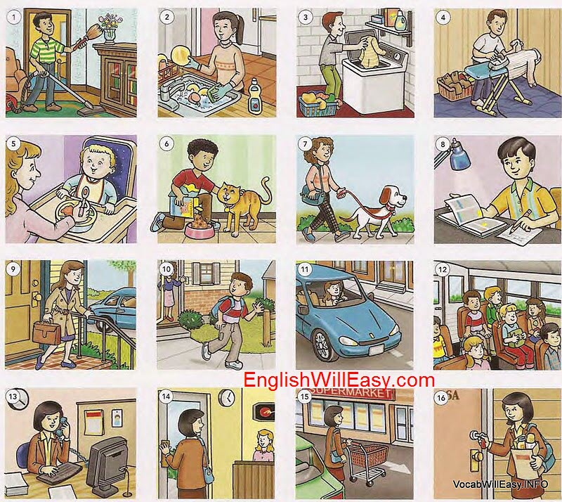 everyday%20activites%202 Everyday Activities people english through pictures