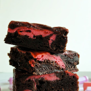 Goat Cheese Swirled Brownies