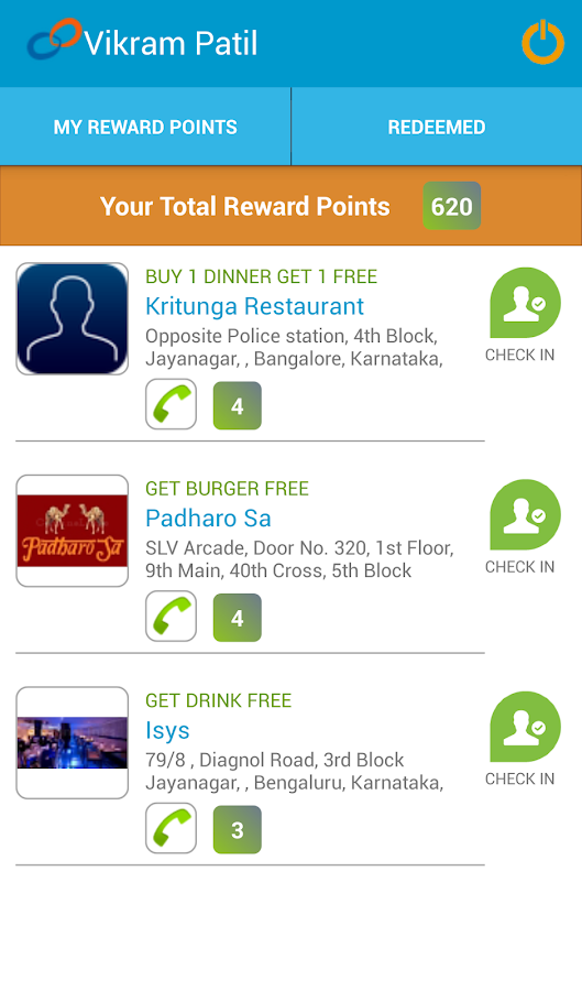 CuisineLinks Loyalty Program- screenshot