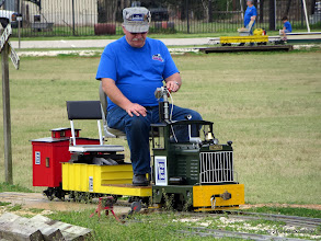 Photo: Gearld Lee with his train      HALS Chili Fest Meet 2014-0301 RPW