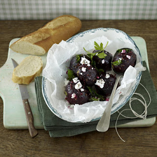 Spicy Beets with Goat Cheese.