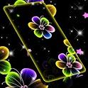 Neon Flowers Live Wallpaper icon