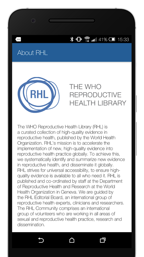WHO Reproductive Health- screenshot