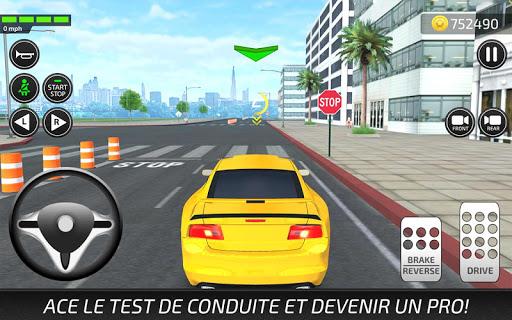 Jeux de Voiture et Conduire: Auto Ecole Simulateur captures d'u00e9cran 2