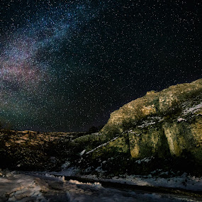 Milky way by Plamen Stanchev - Landscapes Starscapes ( hill, mountain, night photography, nature, stars, snow, star, nightscape, bulgaria )